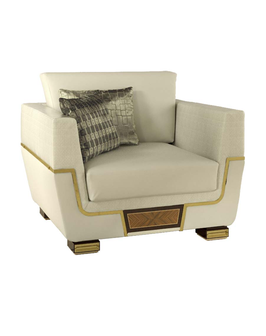 poltrona salotto elegante di lusso in legno in stile contemporaneo
