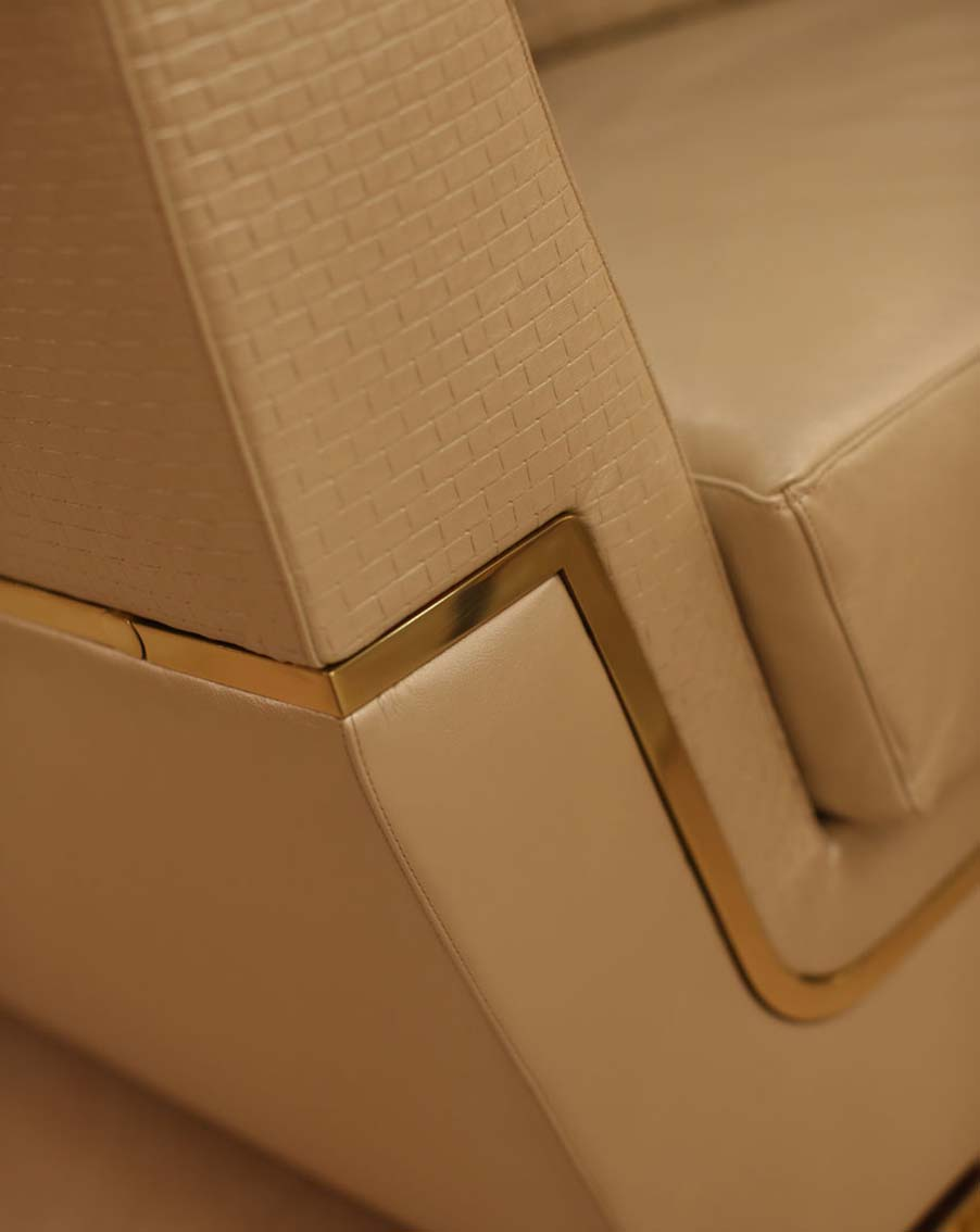 divano salotto elegante di lusso in legno in stile contemporaneo