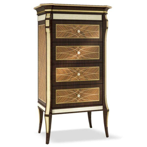comò elegante di lusso in legno in stile contemporaneo