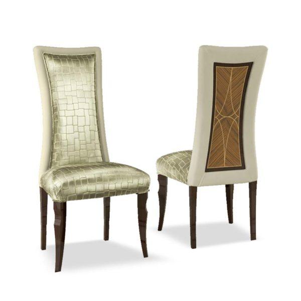 sedia elegante di lusso in legno in stile contemporaneo