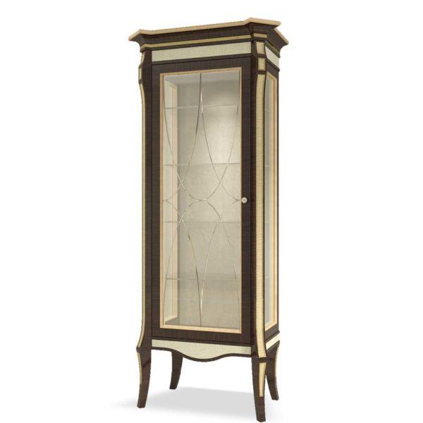 vetrina elegante di lusso in legno in stile contemporaneo