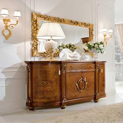 mobili in foglia oro