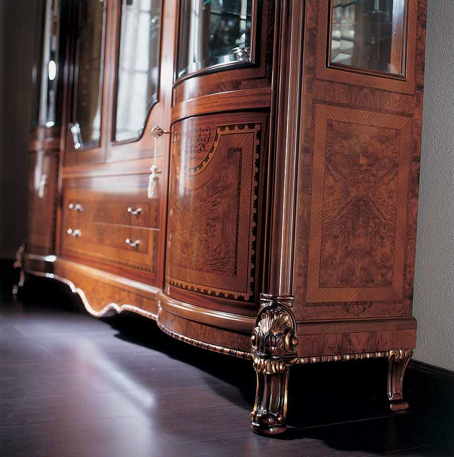 soggiorno elegante di lusso in legno in stile classico
