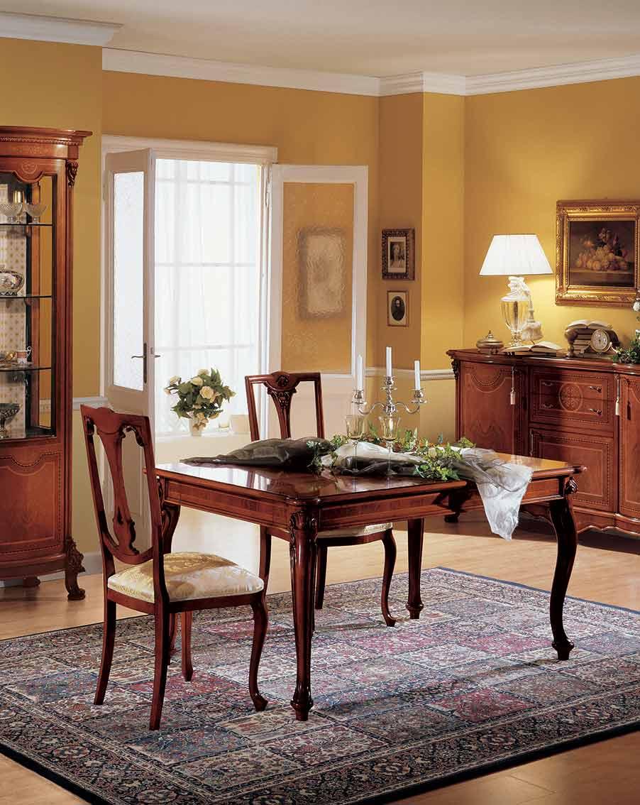 tavolo allungabile di lusso in legno in stile classico