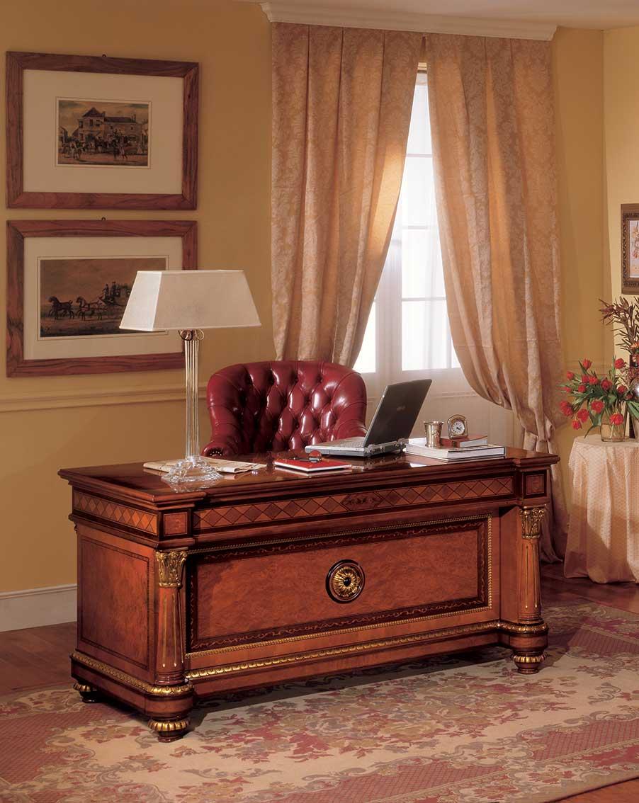 Scrivania classica per ufficio avvocato notaio commercialista studio legale