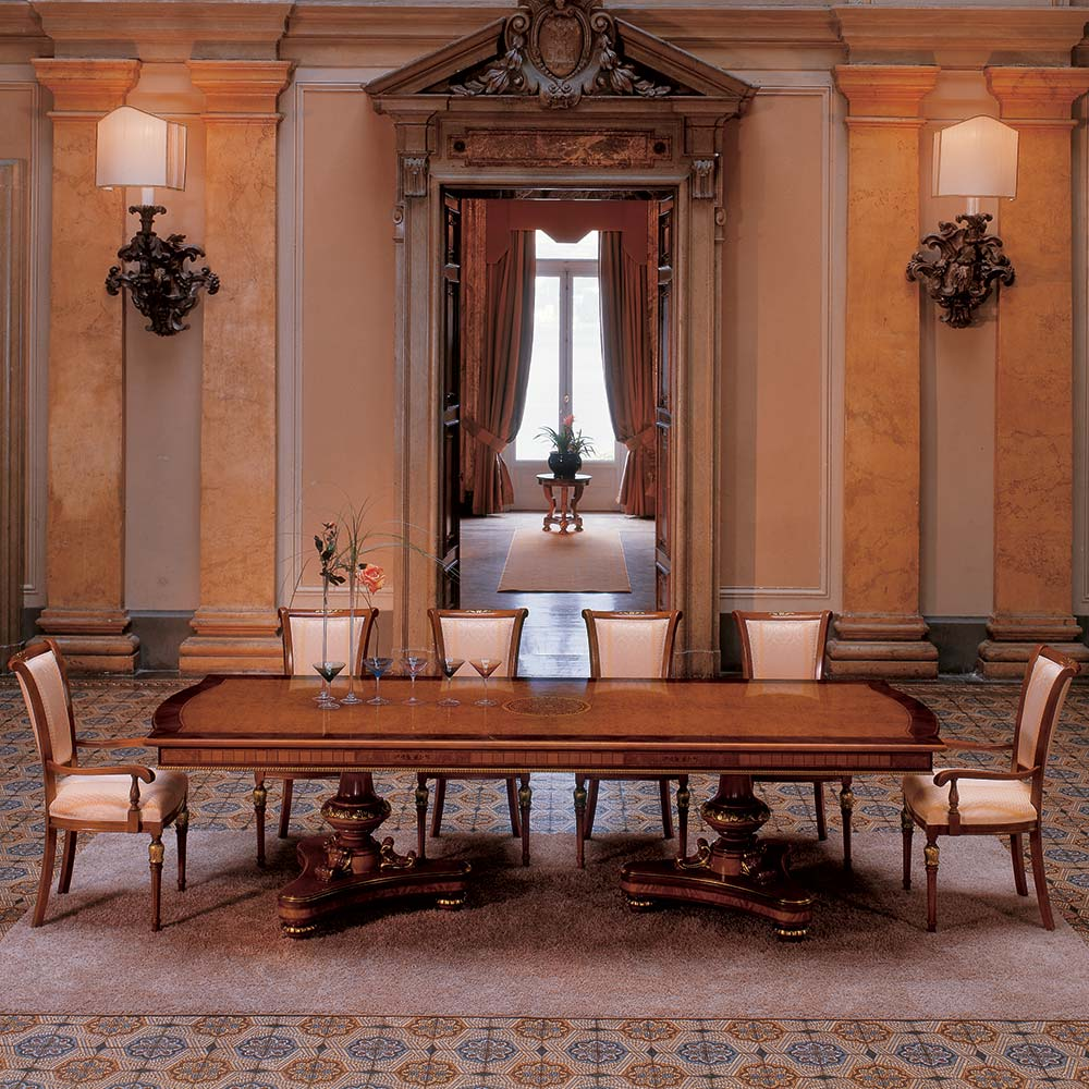 Rectangular table with 2 pedestals 1