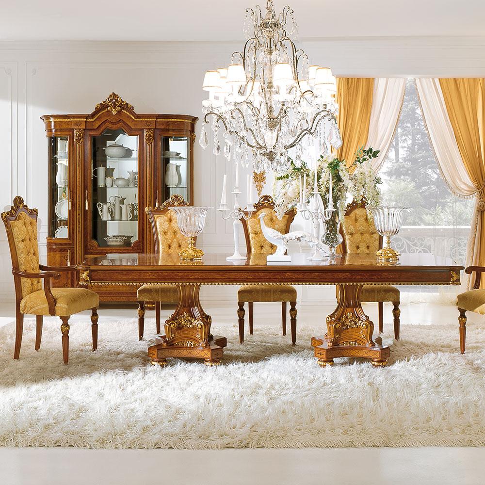 Обеденный стол с 2 пьедесталами 2