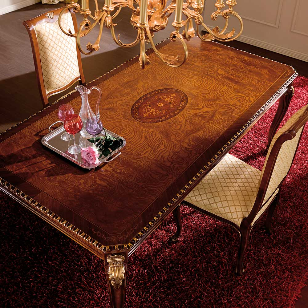 Rectangular table with side extensions 2