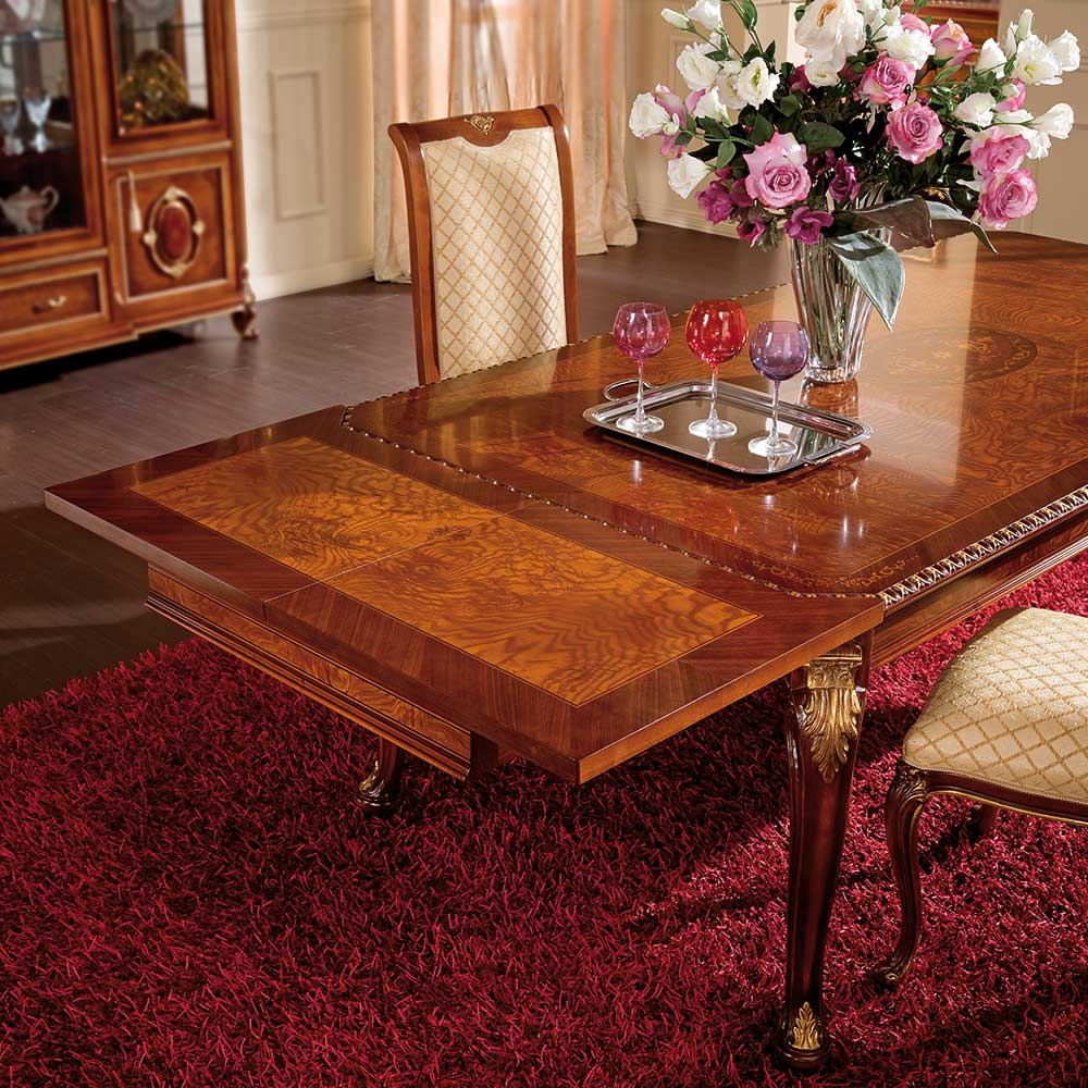 Rectangular table with side extensions 3